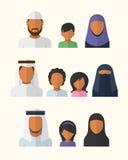 Arabiska familjer Arkivfoton
