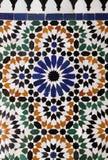 Arabiska glasade tegelplattor Arkivfoton