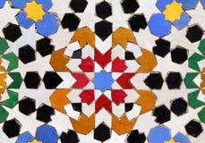 Arabiska glasade tegelplattor royaltyfri foto