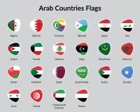 Arabiska landsflaggor Arkivfoto