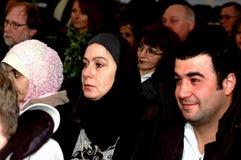 Arabiska muslimpar som beviljas danskt medborgarskap royaltyfri fotografi