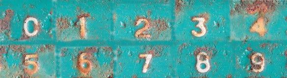 Arabiska tal från 0 till 9 Royaltyfri Fotografi
