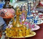 Arabiska tekannor Fotografering för Bildbyråer