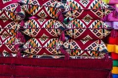 Arabiska traditionella textiler - materielbild Arkivbilder