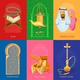 Arabiskauppsättning royaltyfri illustrationer