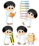 Arabiskt barn vektor illustrationer