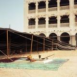 arabiskt beduinläger royaltyfri fotografi