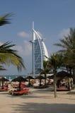 arabiskt burjhotell för al Arkivbilder