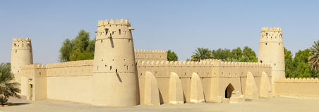 Arabiskt fort i Al Ain, Förenade Arabemiraten Royaltyfri Foto