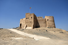 Arabiskt fort i Fujairah Royaltyfri Fotografi