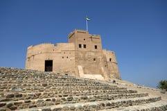 Arabiskt fort i Fujairah Arkivbild
