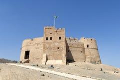 Arabiskt fort i Fujairah Arkivbilder