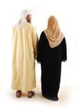 arabiskt gå för familjmuslim Arkivfoto