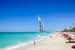 Arabiskt hotell för Burj al, Dubai, UAE Arkivfoto