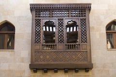 arabiskt islamiskt mashrabeyastilfönster Royaltyfri Foto