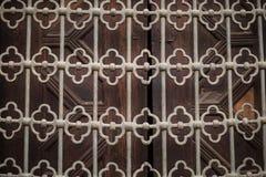 Arabiskt islamiskt modellbakgrundsfönster av moskén Fotografering för Bildbyråer