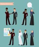 Arabiskt möte för affärsfolk stock illustrationer