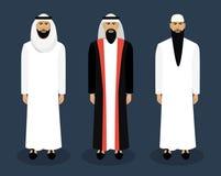 Arabiskt manligt tecken - uppsättning också vektor för coreldrawillustration stock illustrationer