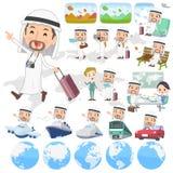 Arabiskt manlopp Arkivbilder