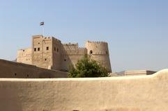 arabiskt slott gammala fujairah arkivbild