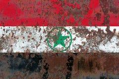 Arabistan grunge flag, Iran dependent territory flag.  Royalty Free Stock Photography