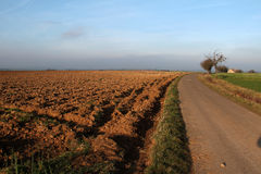 Arable. Furrow / Arable / Freshly plowed field Stock Image