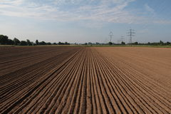 Arable. Furrow / Arable / Freshly plowed field Royalty Free Stock Photography