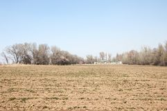 Arable. Land early spring royalty free stock photos