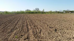 Arable land in rural. Area Royalty Free Stock Photography