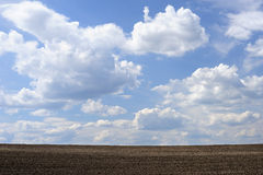 Arable land and the sky Stock Photo