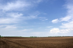 Arable land and the sky Stock Images