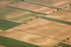 Arable land in Voijvodina photographed from air. Arable land aerial photography in Vojvodina, Serbia Royalty Free Stock Image