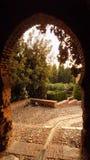 ARABO Andalusia di Malaga ALCAZABA Fotografie Stock Libere da Diritti