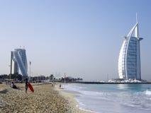 Arabo di Al di Burj & il mondo Immagini Stock Libere da Diritti