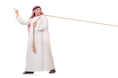 Arabo nel concetto di conflitto Fotografia Stock