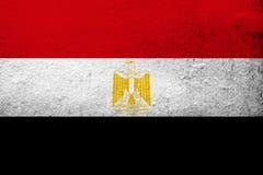 Arabrepubliken Egypten nationsflagga Kan användas som en vykort royaltyfri illustrationer