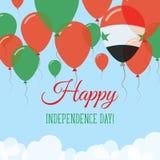 Arabrepubliken Syrien självständighetsdagenlägenhet Vektor Illustrationer