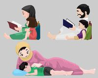 Arabs- Bedtime Stories Stock Photography
