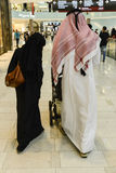 Arabs at Dubai Airport Stock Image