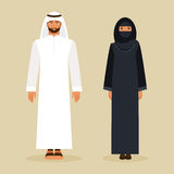 The Arabs in the national costume. Vector illustration Royalty Free Stock Images