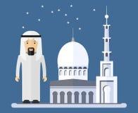 Arabscy mężczyzna blisko meczetu Zdjęcia Royalty Free