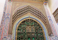 Arabska ornament dekoracja na bramie i ścianie Fotografia Stock