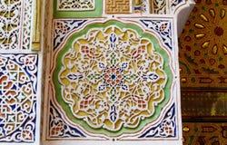 Arabska ornament dekoracja na bramie i ścianie Fotografia Royalty Free