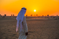 Arabska pustynia Zdjęcia Royalty Free