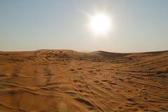 Arabska pustynia, Dubaj Zdjęcie Stock