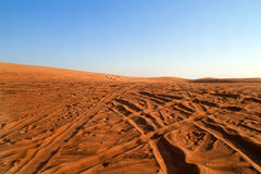 Arabska pustynia, Dubaj Fotografia Royalty Free