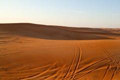 Arabska pustynia, Dubaj Obrazy Royalty Free
