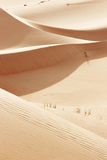 Arabska pustynia piasek toczne diuny Fotografia Stock