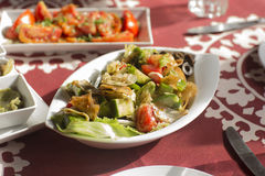 Arabska Tradycyjna sałatka i jedzenie w zatoka środka wschodzie Fotografia Royalty Free