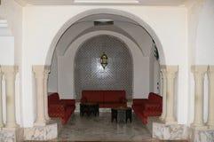 Arabska wewnętrzna kawiarnia fotografia royalty free
